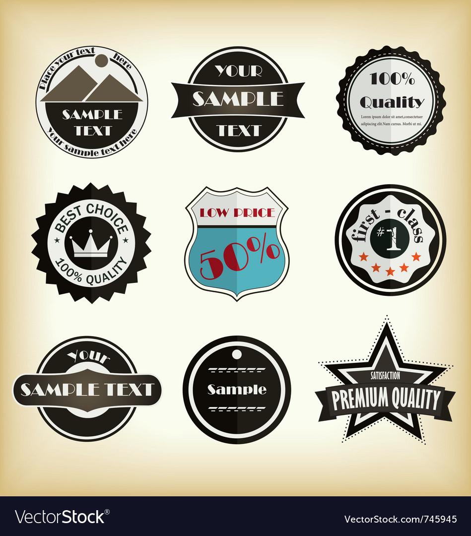 Vintage styled label design
