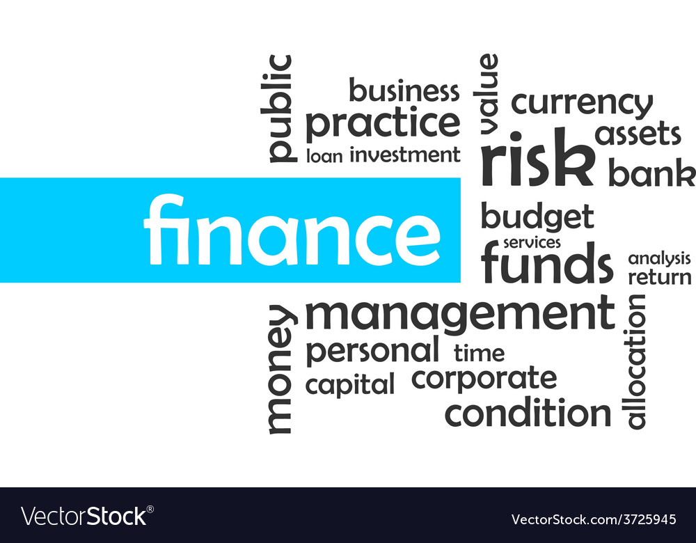 Word cloud finance