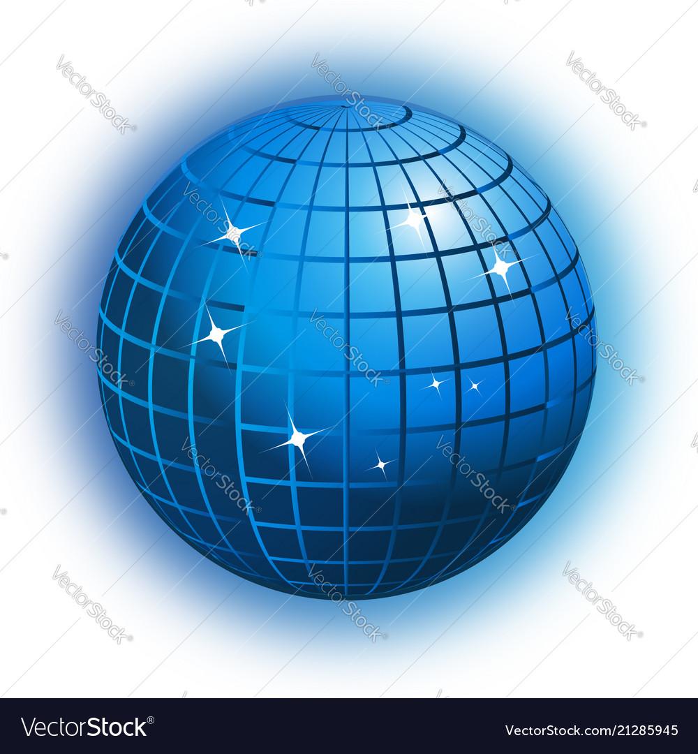 World globe business networking icon