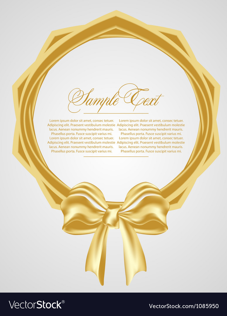 Abstract background with gold bow