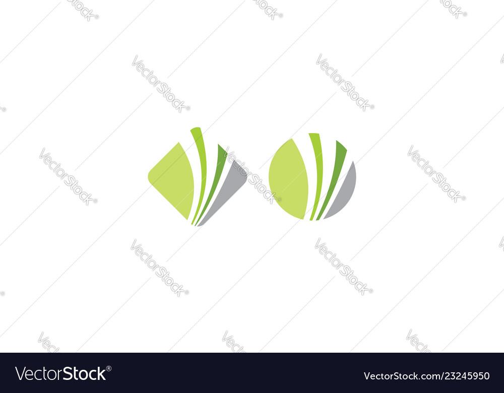 Abstract financial logo icon
