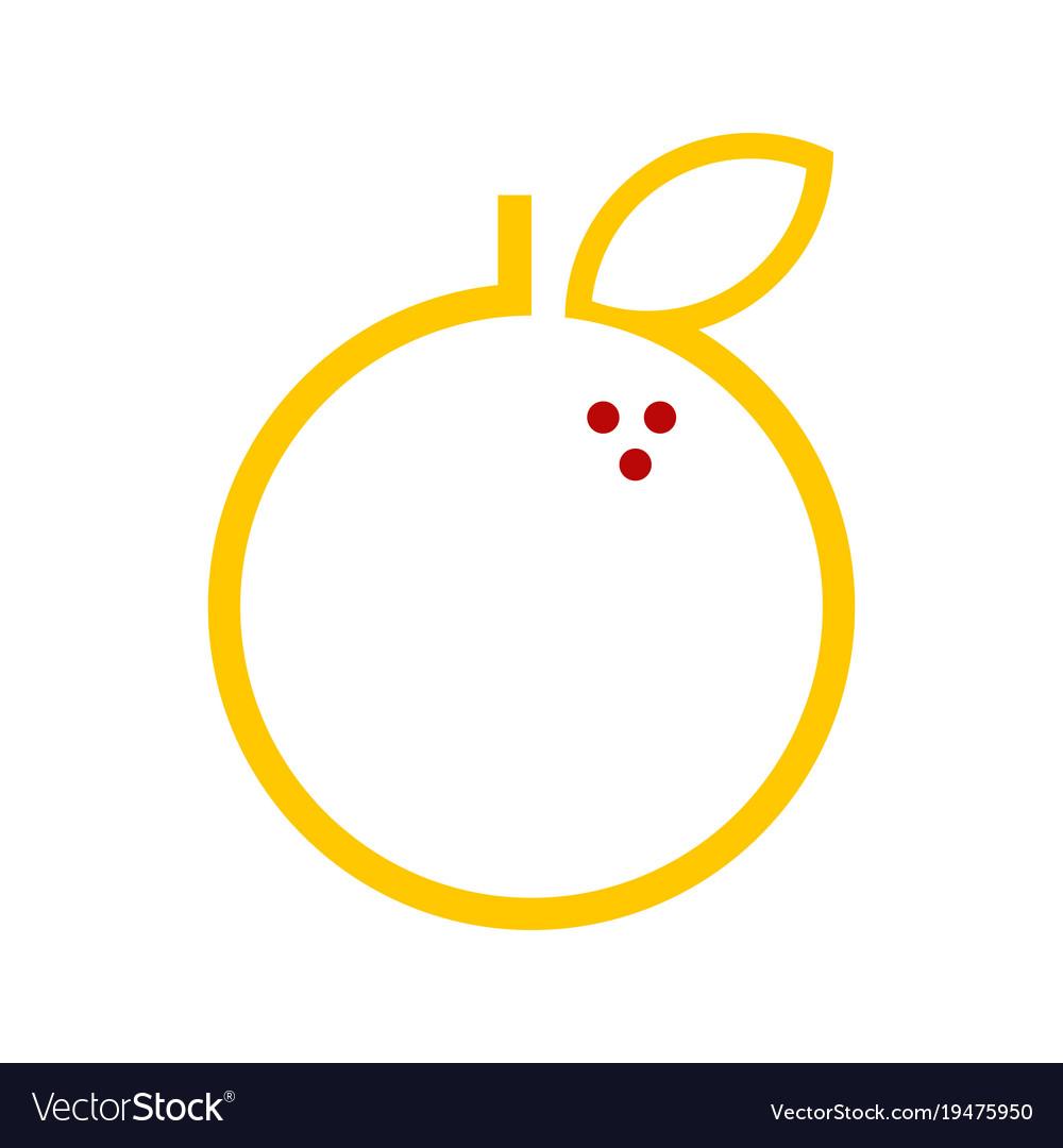 Abstract Orange Fruit Graphic