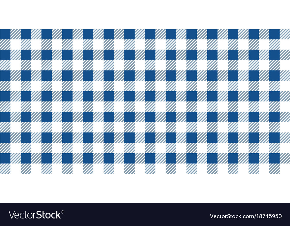 Charmant Blue And White Gingham Tablecloth Seamless Pattern Vector Image