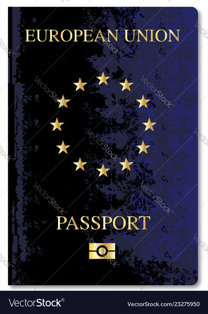 European Union Passport Royalty Free Vector Image