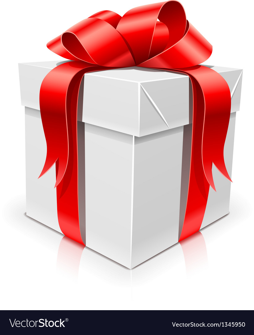 Gift box with bow vector image  sc 1 st  VectorStock & Gift box with bow Royalty Free Vector Image - VectorStock