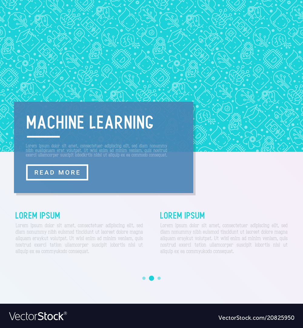 Machine learning artificial intelligence concept