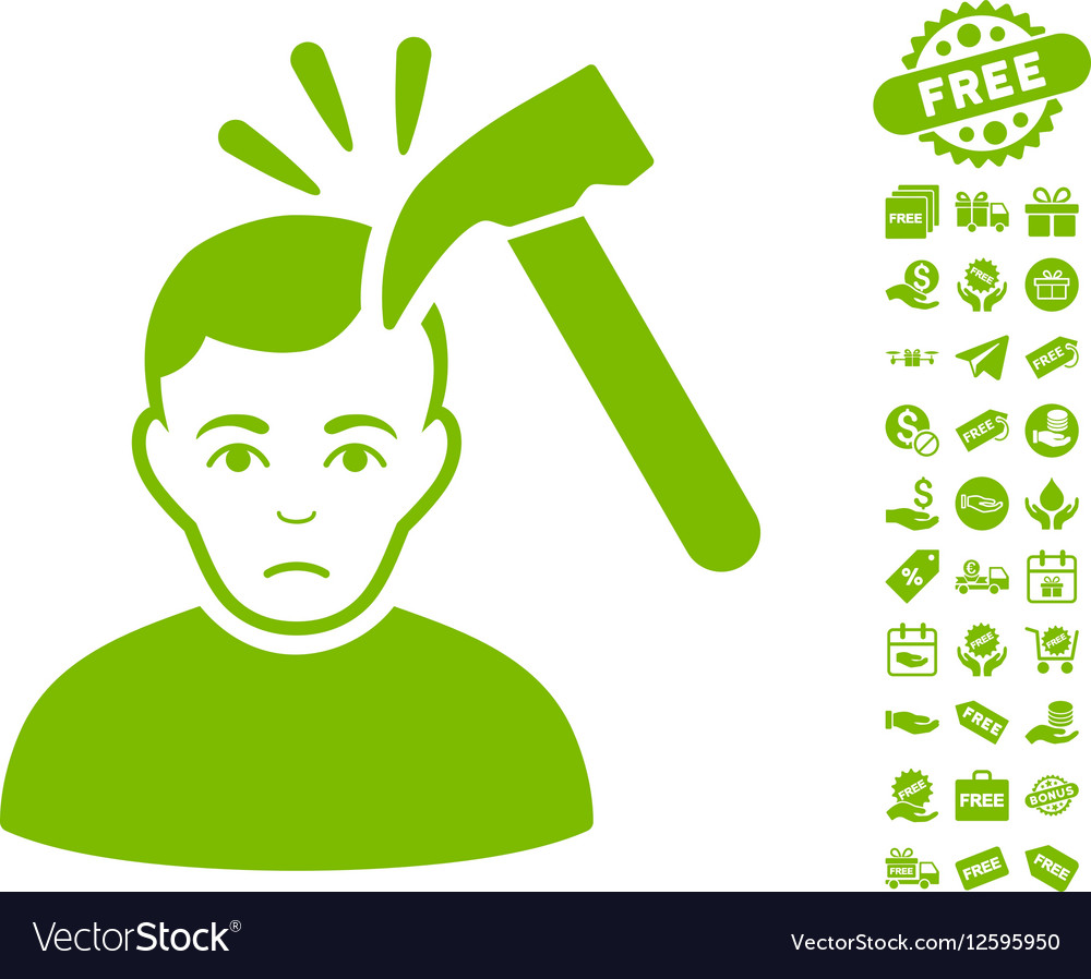Murder With Hammer Icon With Free Bonus vector image