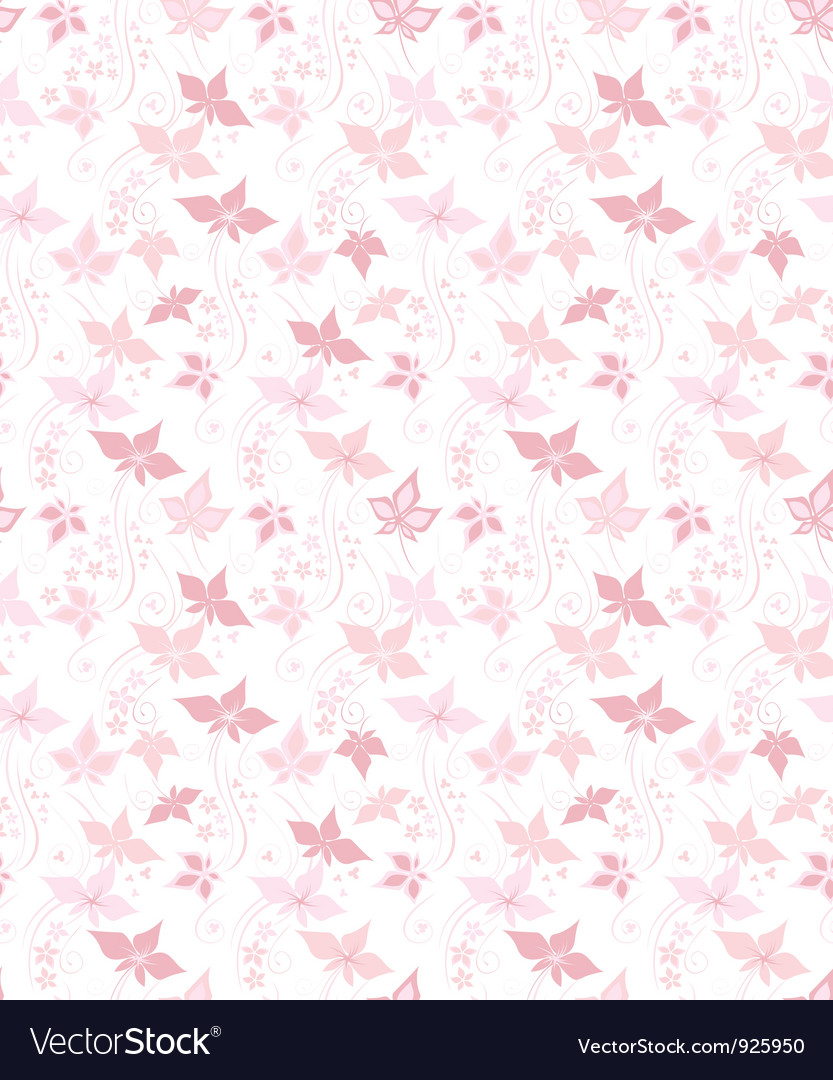 Pretty floral background vector image