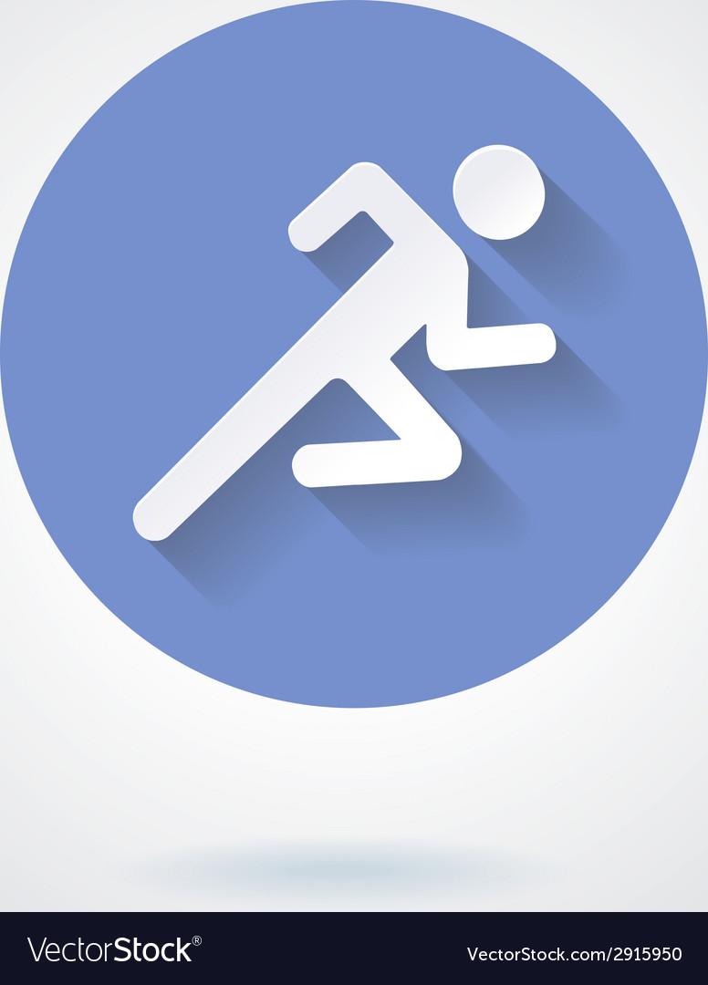 Run Icon vector image