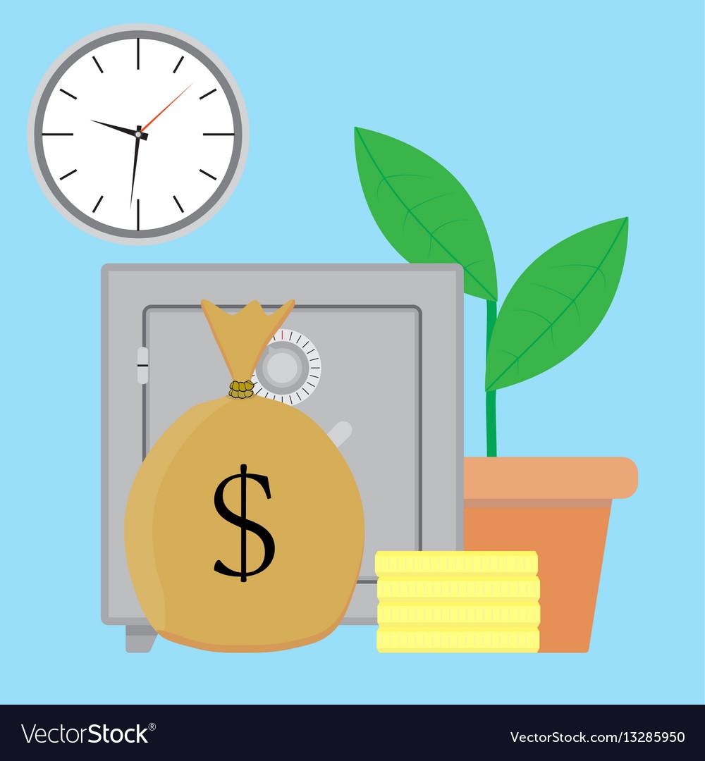 Savings money vector image