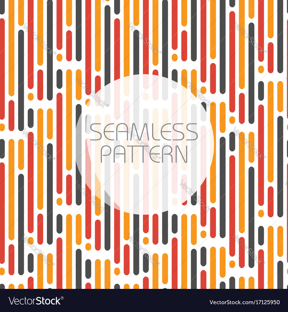 Seamless pattern with parallel lines in three