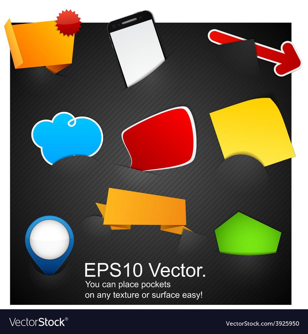 Set of announcement promotion symbols vector image
