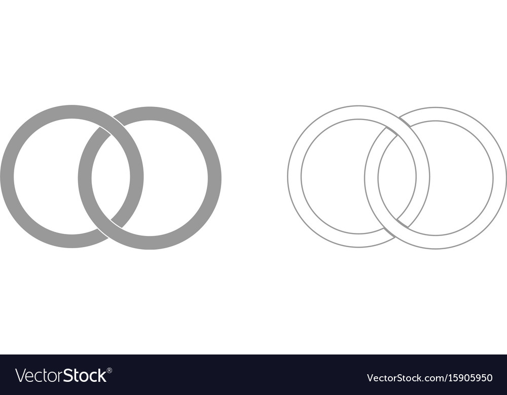 Two bonded wedding rings the grey set icon