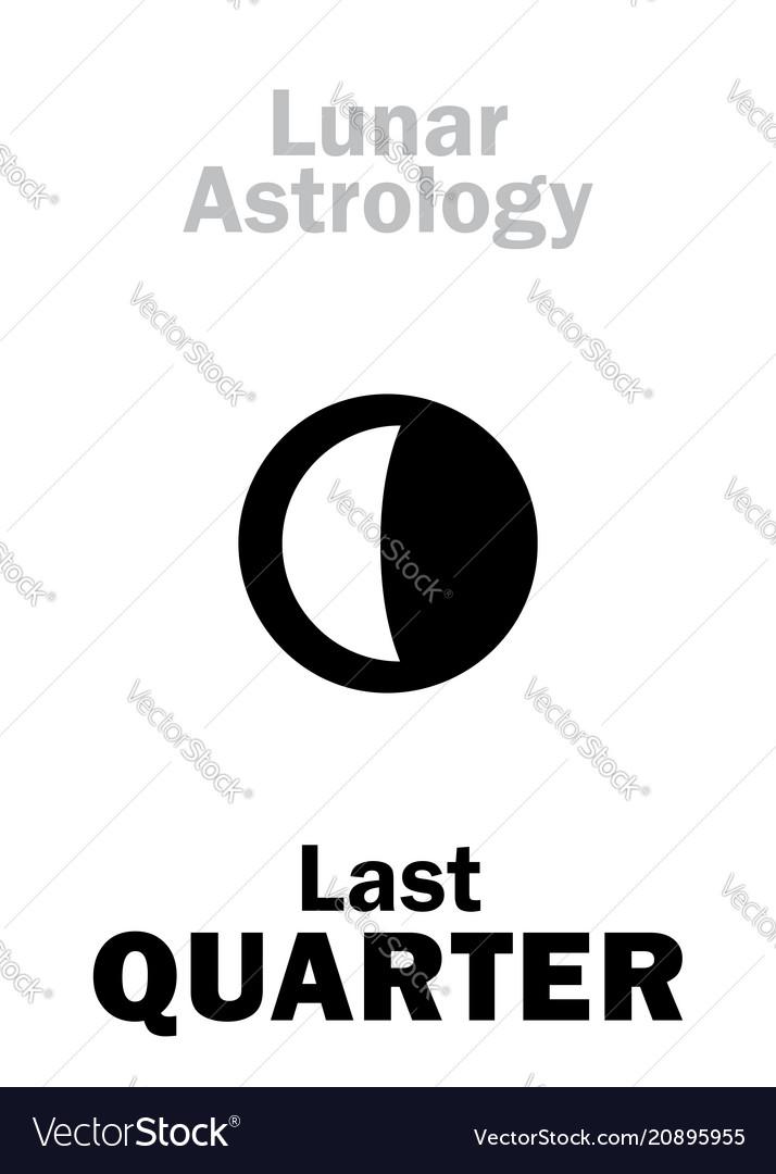 Astrology last quarter of moon