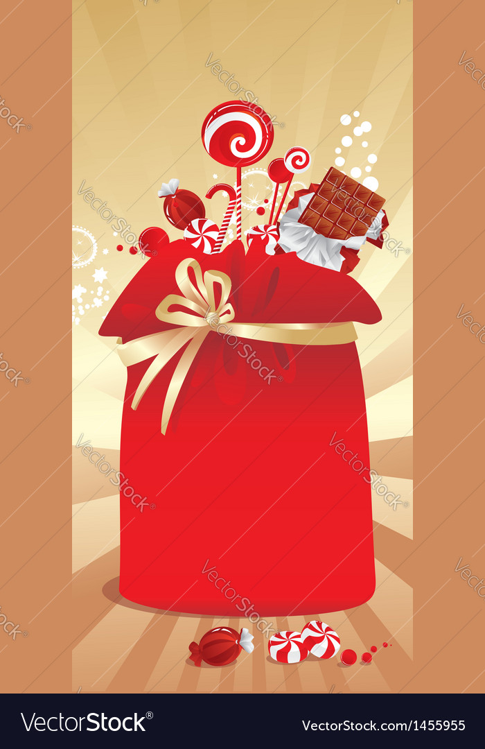 Gift sack with candy