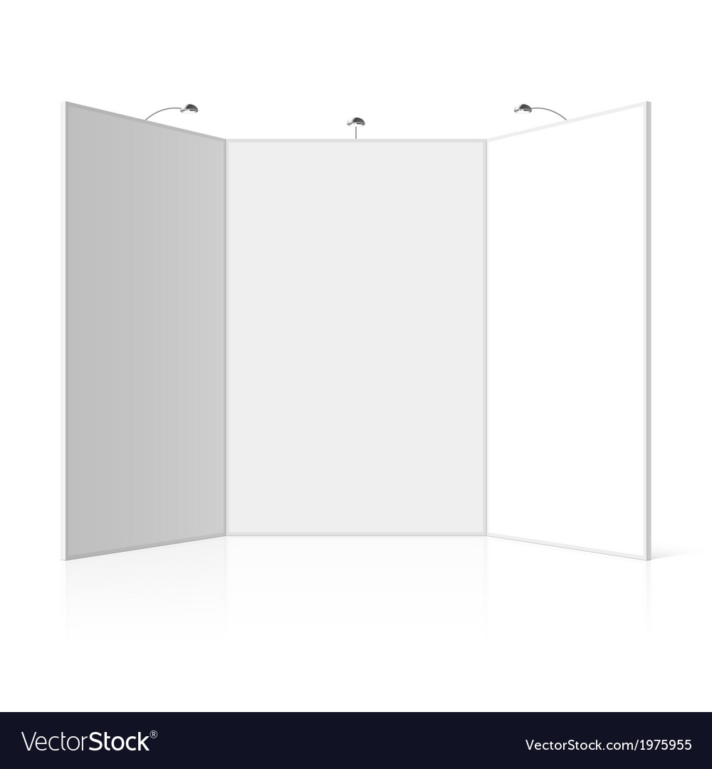 Portable Exhibition Board : Folding display boards and kits panel display stands