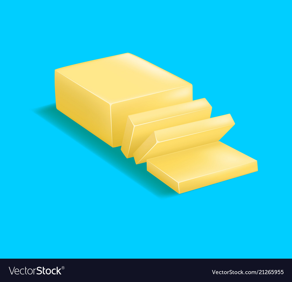 Realistic detailed 3d butter
