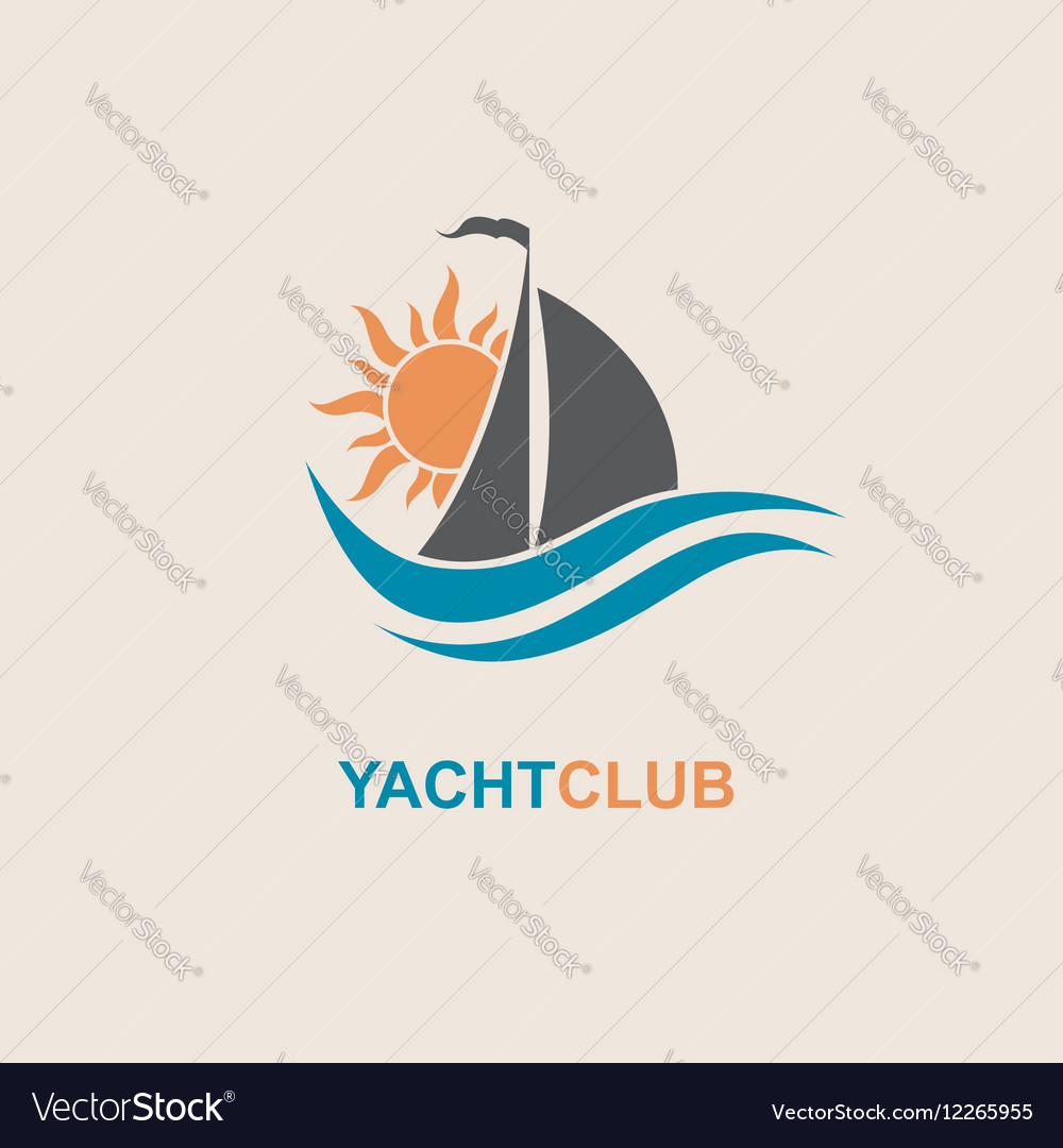 Sailboat and yacht icon vector image