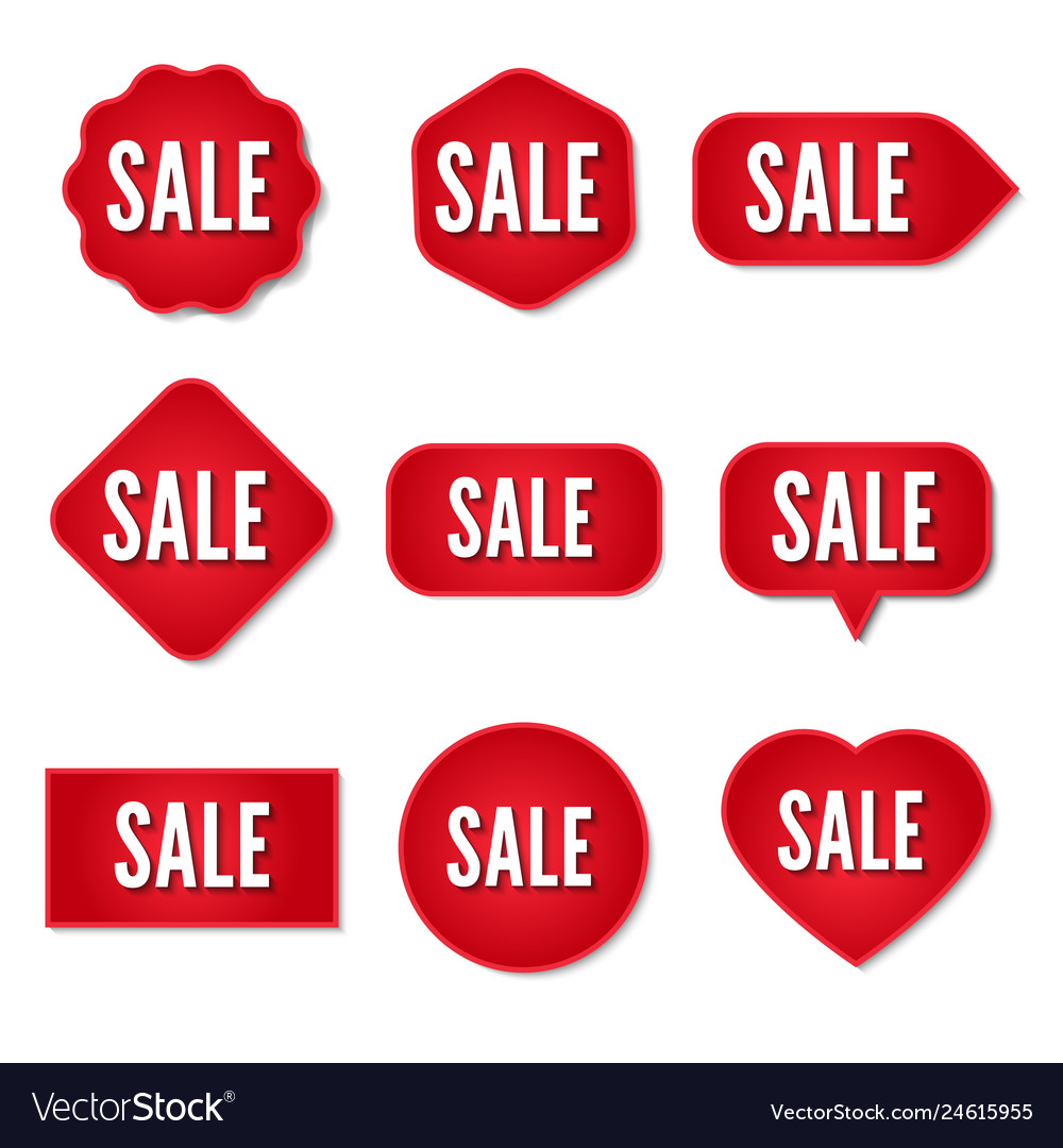 Sale stickers collection set of promotional