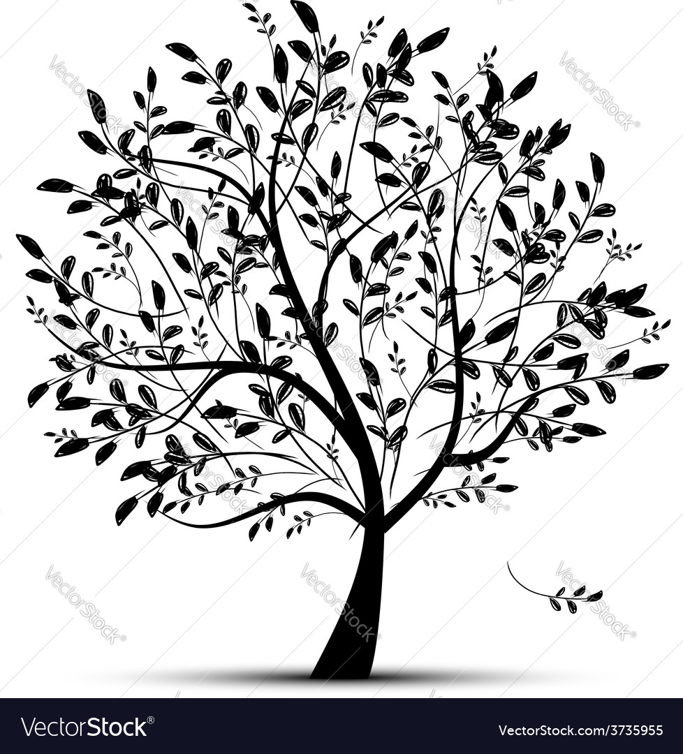 Spring tree green for your design vector image