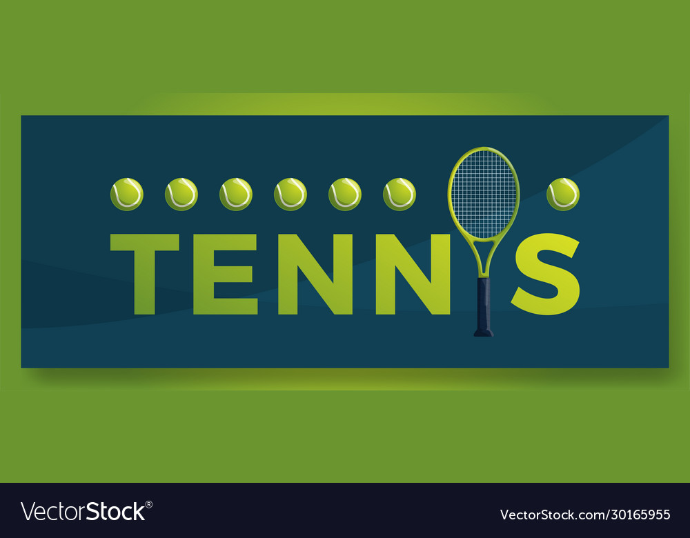 Typography word tennis logo sport logotype