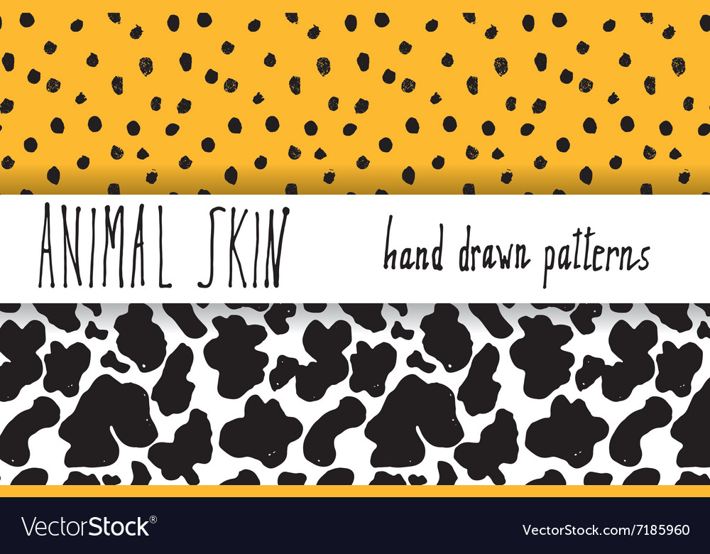Animal skin hand drawn texture seamless pattern