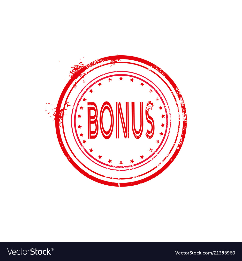 Bonus Watermark Stamp Circular Icon Isolated Vector Image