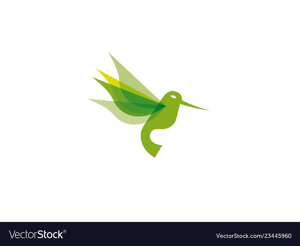 Hummingbird flying logo design