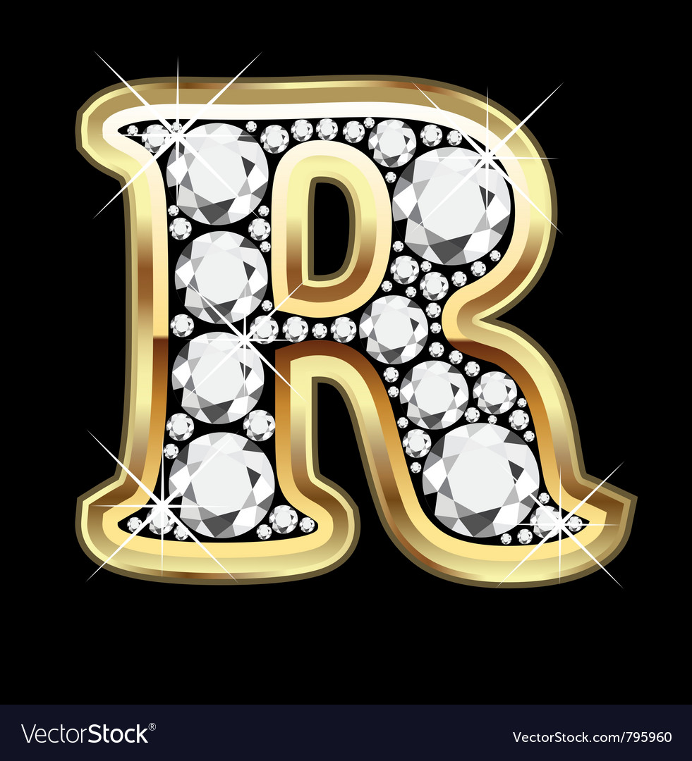 Letter r gold and diamond royalty free vector image letter r gold and diamond vector image thecheapjerseys Image collections