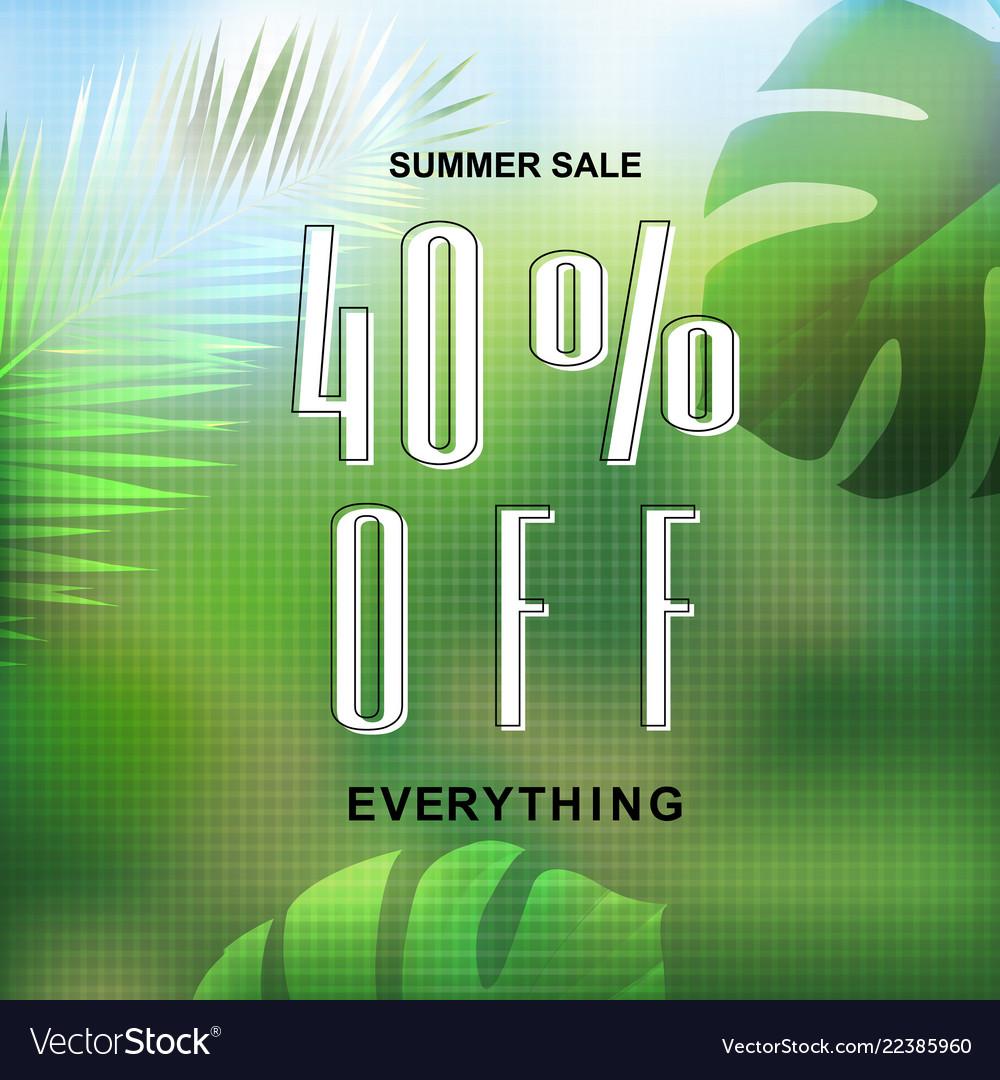 Summer tropical banner