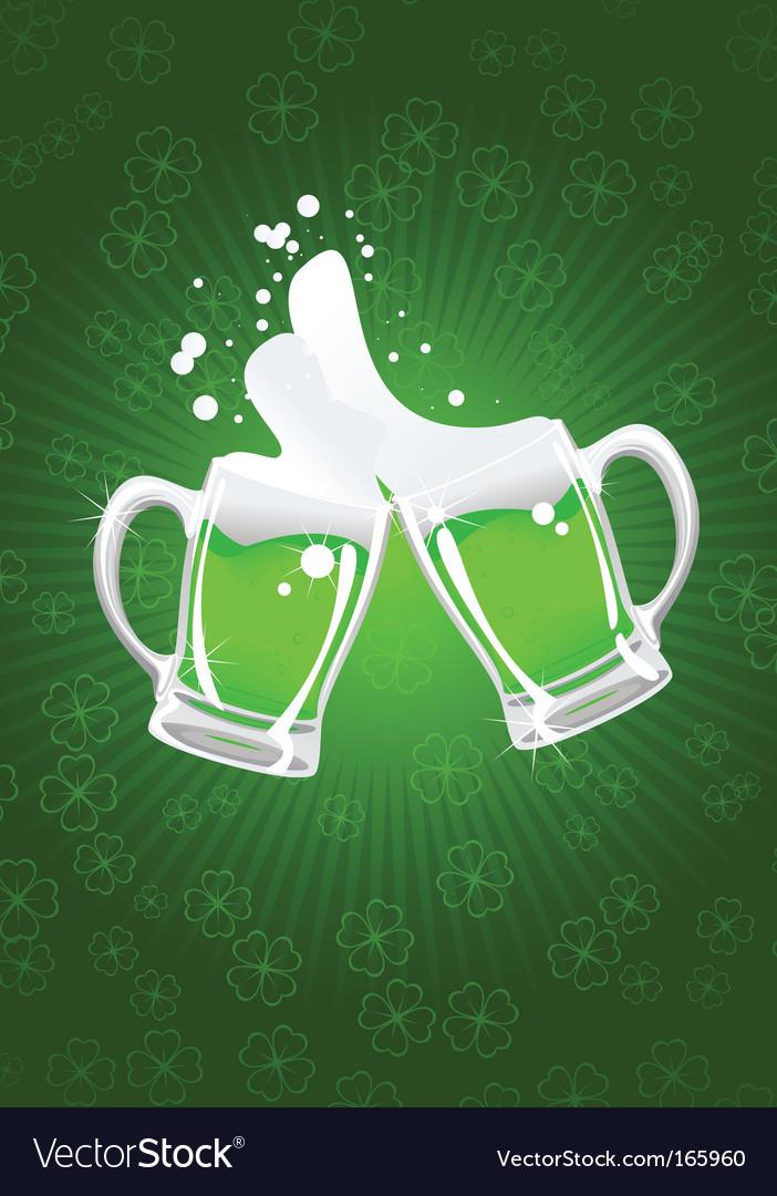 Two St Patrick's beer mug