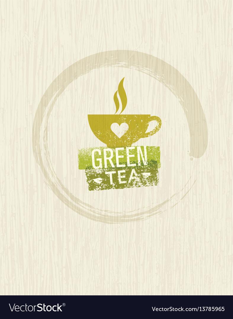 Green tea rough design element concept