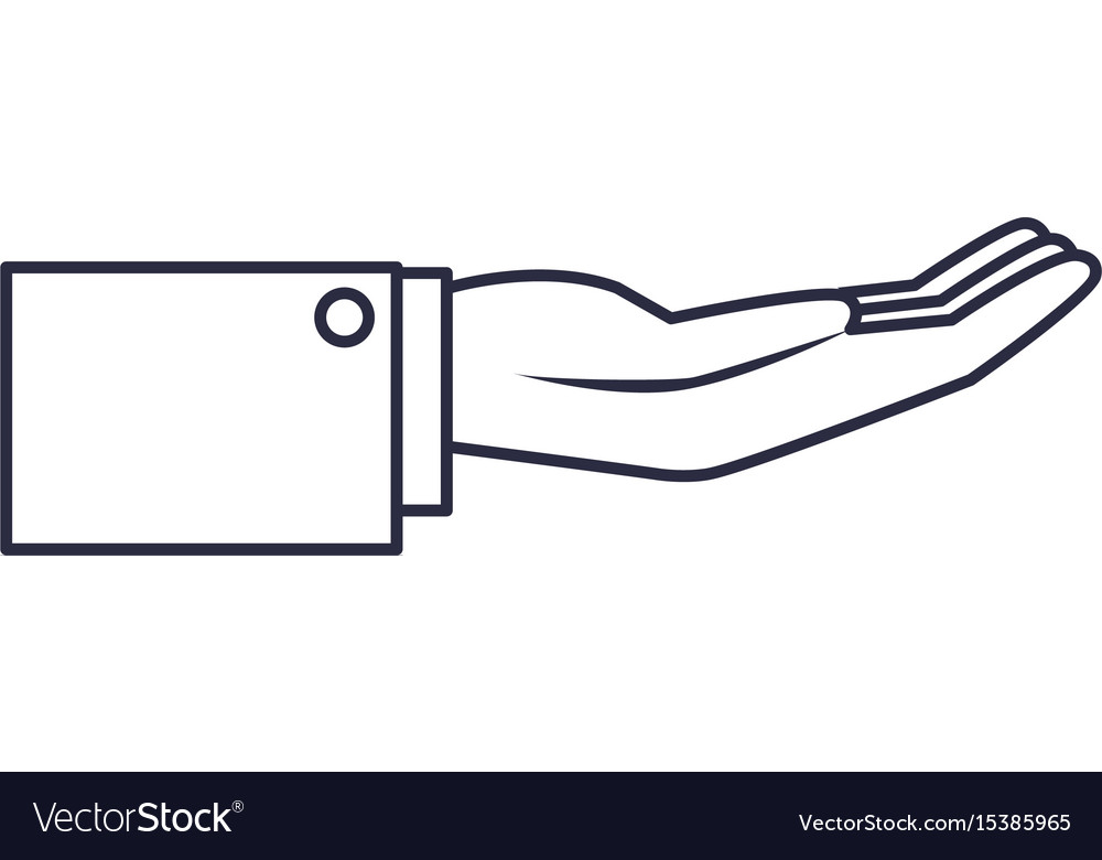 Hand businessman help support gesture image vector image
