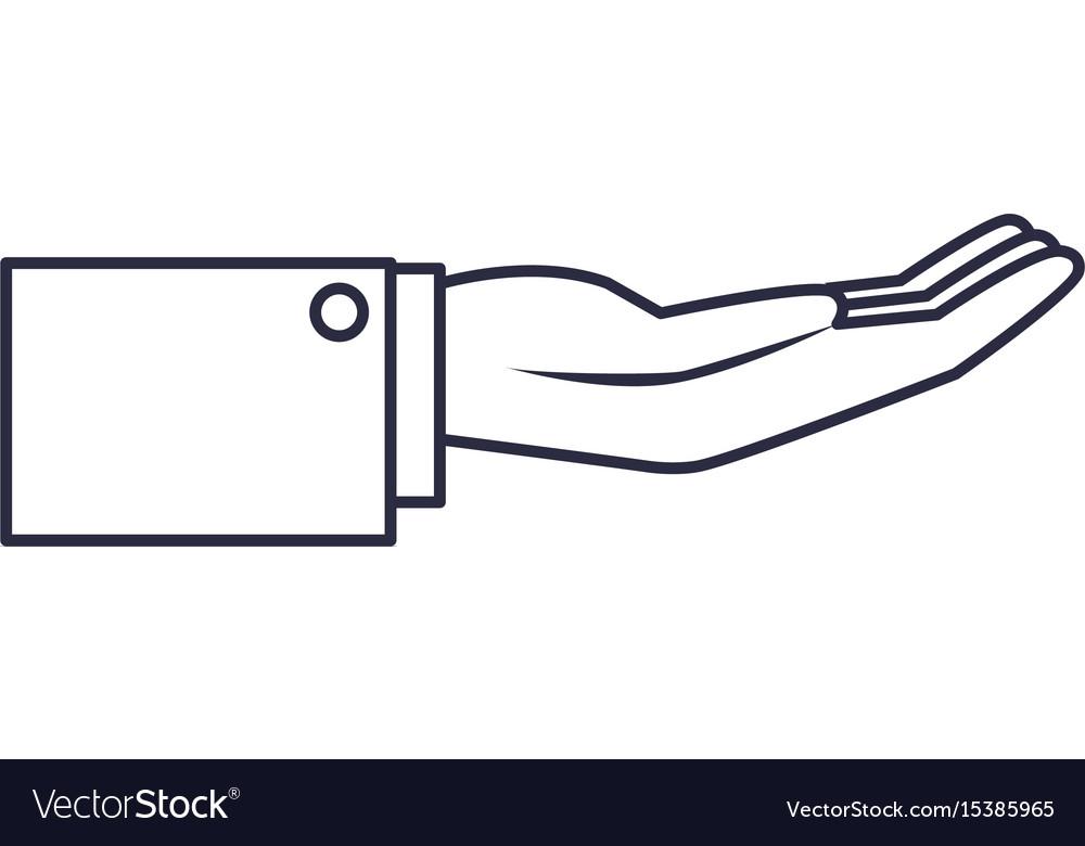 Hand businessman help support gesture image