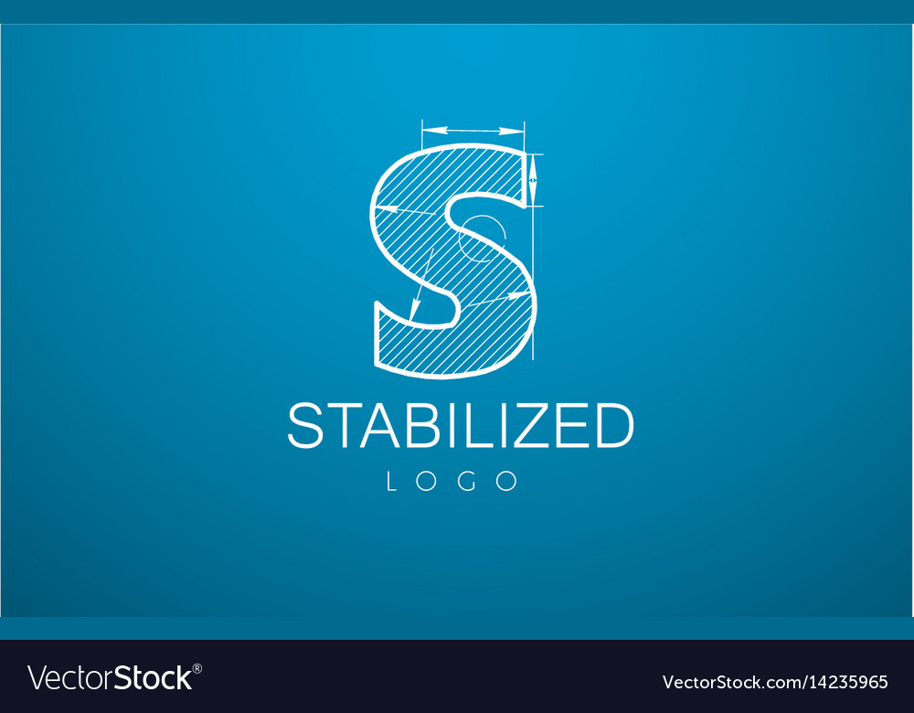 Logo template letter s in the style of a