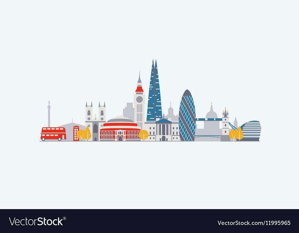 London abstract skyline vector image
