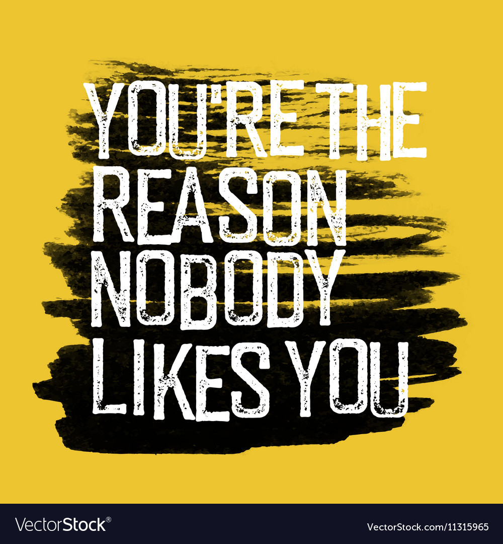 Motivational poster with lettering You are the vector image