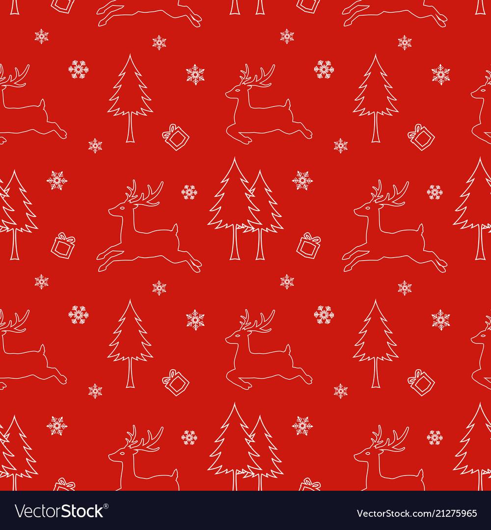 Seamless pattern of winter season christmas design