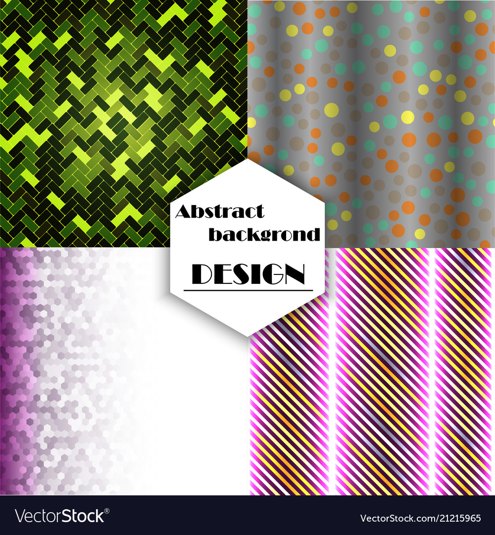 Set of geometric pattern abstract background