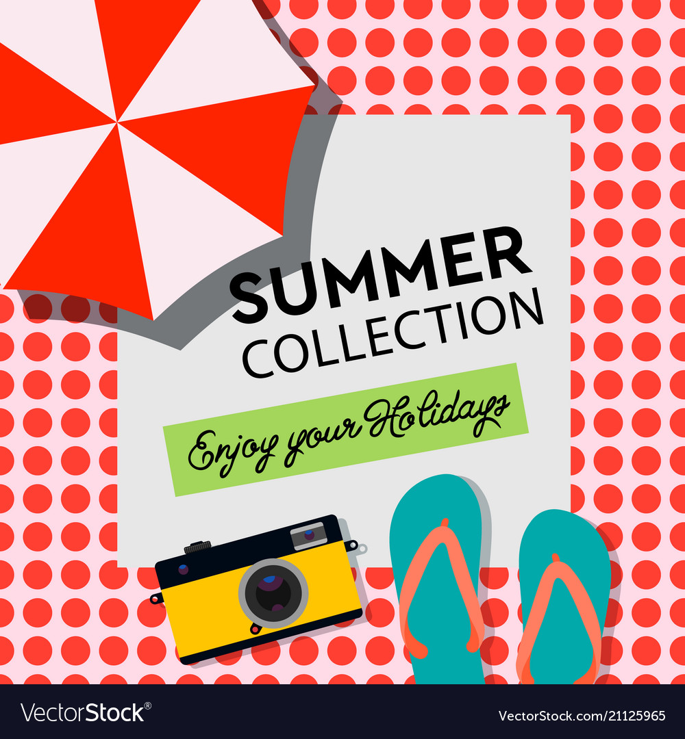 Summer collection enjoy your holiday poster