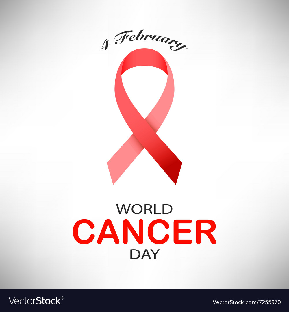 4 February World Cancer Day on pink background