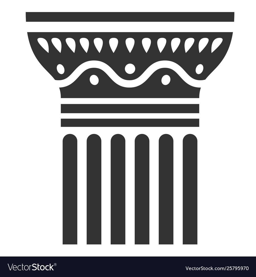 Antique column icon classical element of