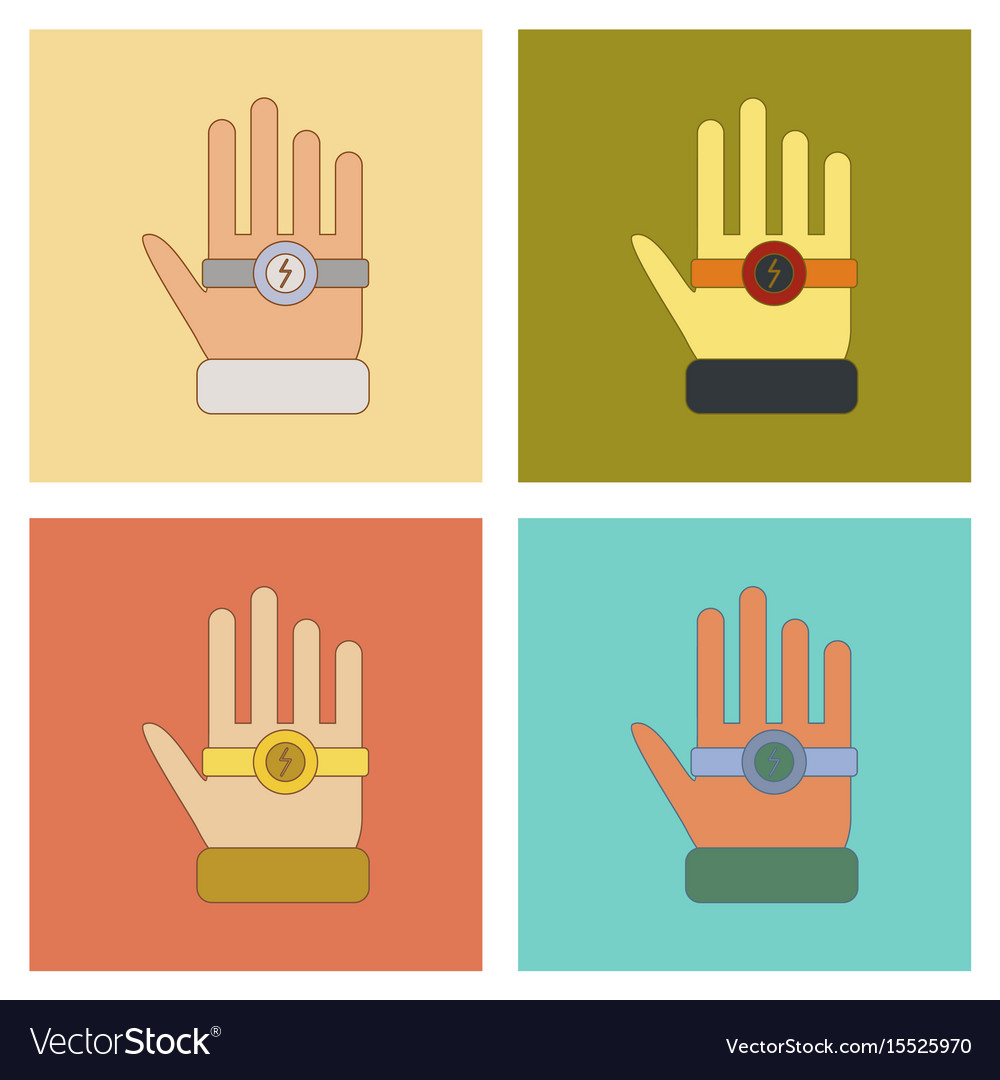 Assembly flat icons kids toy bracelet hand vector image