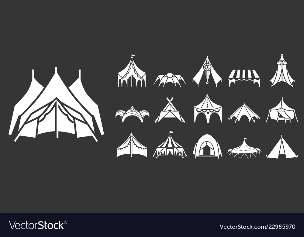 Canopy icon set simple style