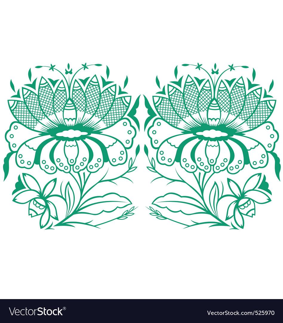 Classical oriental flower set