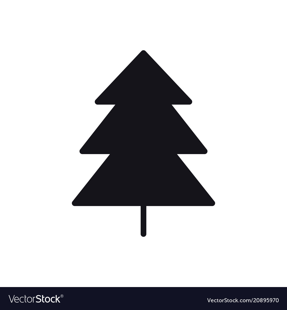 Fir tree icon spruce forest hiking sign and
