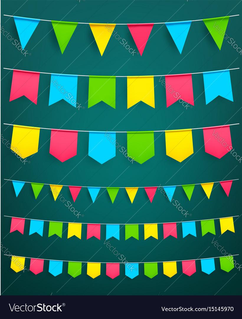 Flag garland for festival celebration decor