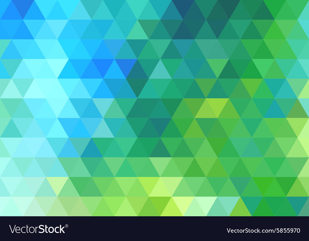 Green blue triangle background