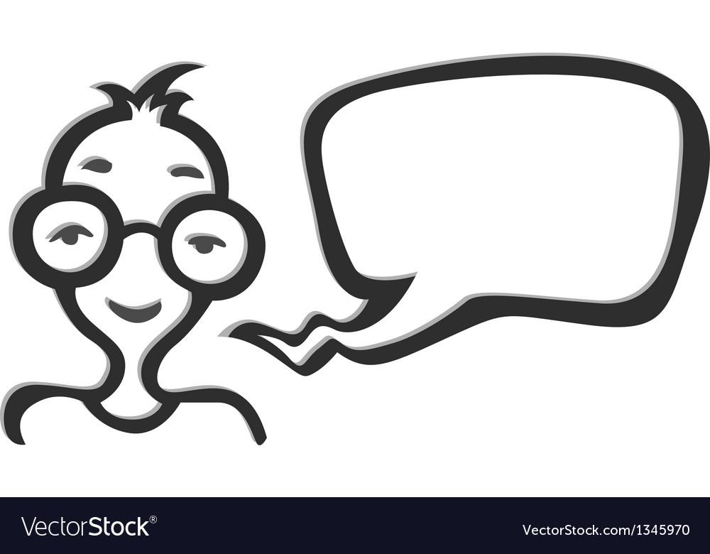 Man in glasses social net icon