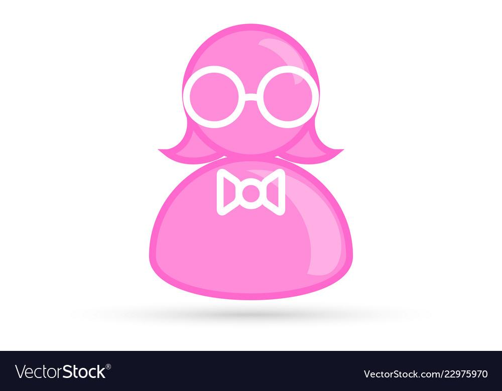 Pink female profile picture silhouette profile